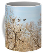 Great Blue Heron Nest Building 1 Coffee Mug