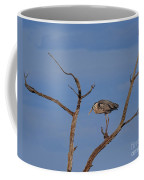 Great Blue Heron Perched On Branch Coffee Mug