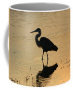 Great Blue Heron Reflected Coffee Mug