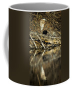Great Blue Heron Reflection Coffee Mug