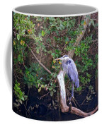 Great Blue Heron Resting Coffee Mug