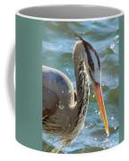 Great Blue Heron Splish Splash Coffee Mug