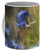 Great Blue Heron Taking Off Coffee Mug