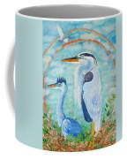 Great Blue Herons Seek Freedom Coffee Mug