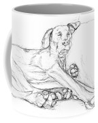 Great Dane Dog Sketch Bella Coffee Mug