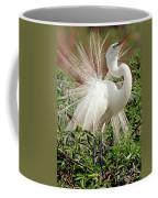 Great Egret Courtship Display Coffee Mug