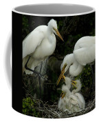 Great Egret Family 2 Coffee Mug