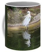 Great Egret In The Lake Coffee Mug