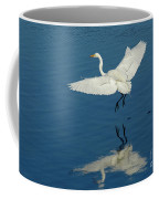 Great Egret Landing Coffee Mug