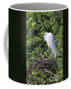 Great Egret Nest Coffee Mug