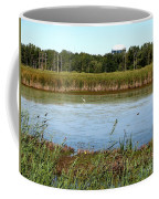 Great Egret On Berm Pond At Tifft Nature Preserve Buffalo New York Coffee Mug