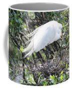 Great Egret On Nest Coffee Mug