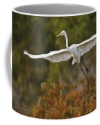 Great Egret Pixelated Coffee Mug