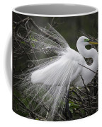 Great Egret Preening Coffee Mug