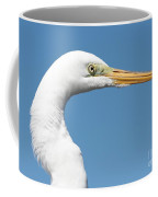 Great Egret Profile Against Blue Sky Coffee Mug