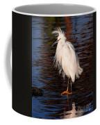 Great Egret Walking On Water Coffee Mug