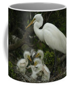 Great Egret With Young Coffee Mug