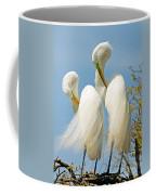 Great Egrets At Nest Coffee Mug