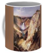 Great Falls Of Yellowstone Coffee Mug by Thomas Moran
