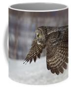 Great Grey Owl In Flight Coffee Mug by Jakub Sisak