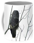 Great Grey Owl On The Lookout Coffee Mug
