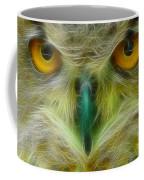 Great Horned Eyes Fractal Coffee Mug