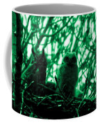 Great Horned Owl And Owlet Coffee Mug