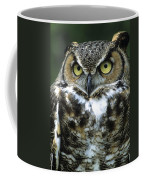 Great Horned Owl At Rest Coffee Mug