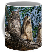 Great Horned Owl Family Coffee Mug