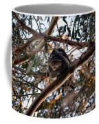 Great Horned Owl Looking Down  Coffee Mug