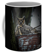 Great Horned Owl On Nest Coffee Mug