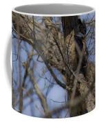 Great Horned Owl On Watch Coffee Mug