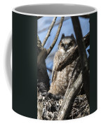 Great Horned Owlet Finishes Lunch Coffee Mug