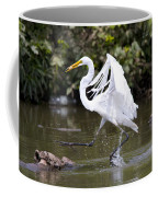 Great White Egret And Turtle Friends1 Coffee Mug