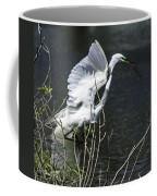 Great White Egret Building A Nest V Coffee Mug