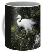 Great White Egret Building A Nest Vii Coffee Mug