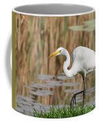 Great White Egret By The River Too Coffee Mug