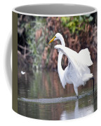 Great White Egret Fishing 1 Coffee Mug