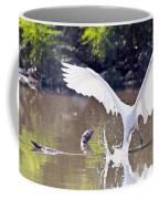 Great White Egret Fishing Sequence 2 Coffee Mug