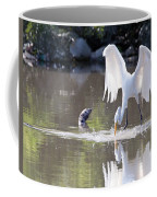 Great White Egret Fishing Sequence 4 Coffee Mug