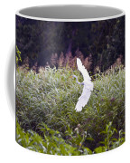 Great White Egret Flying 2 Coffee Mug
