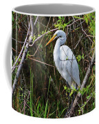 Great White Egret In The Wild Coffee Mug