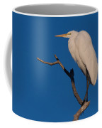 Great White Egret On A Snag Coffee Mug