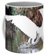 Great White Egret Splash 1 Coffee Mug