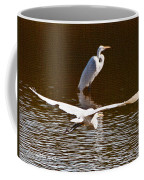 Greater Egrets Meeting Up Coffee Mug