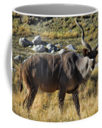 Greater Kudu Grazing Coffee Mug