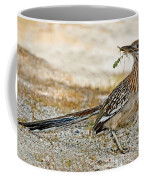Greater Roadrunner With Nest Material Coffee Mug