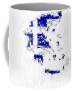 Greece Painted Flag Map Coffee Mug