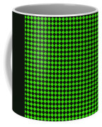Green And Black Checkered Pattern Cloth Background Coffee Mug