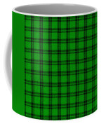 Green And Black  Plaid Cloth Background Coffee Mug